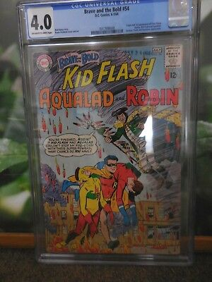 Brave And The Bold #54 Cgc 4.0 First Appearance Of The Teen Titans