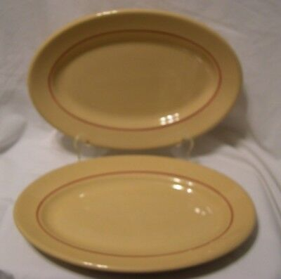 Vintage Inca Ware ironstone Restaurant Ware Set of 2 Platters Shenango China