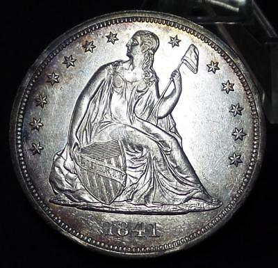 """1841 Seated Liberty Dollar DMPL BU """"POSSIBLE PROOF"""""""