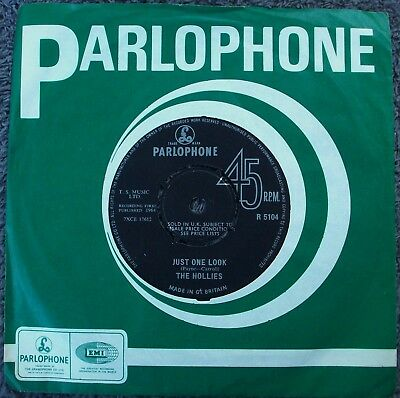THE HOLLIES Just One Look / Keep Off UK PARLOPHONE 1st in EX/EX 1960s POP BEAT