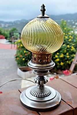 Antique  French Lamp Onion Shape Shade Superb