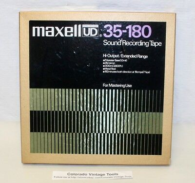 NOS MAXELL UD 35-180 Reel to Reel Sound Recording Tape / Japan