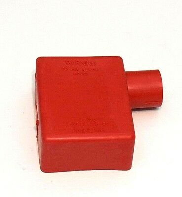 Battery Terminal Boot Elbow Protector 1 Left Positive Red 2/0 Gauge Wire