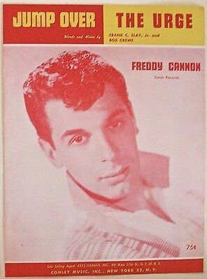FREDDY CANNON Jump Over & The Urge sheet music VERY GOOD+