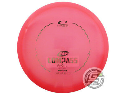NEW Latitude 64 Opto AIR Compass 159g Pink Silver Foil Midrange Golf Disc