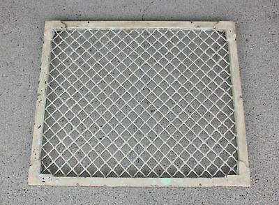 "25.5"" x 21.5"" Victorian Cast Iron Heat Vent Floor Register Grille Grate Antique"