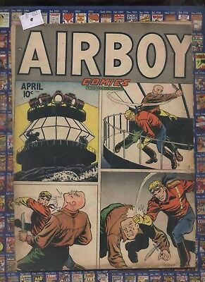 Airboy V5 #3, , 1948  Golden Age comic ,Heap. Flying fool