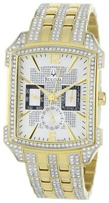 Bulova 98C109 Men's Crystal Collection Two-Tone Stainless Steel Bracelet Watch