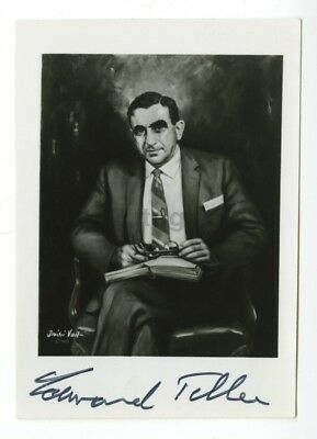 """Edward Teller - """"Father of the Hydrogen Bomb"""" - Autographed 3 x 5 Photograph"""