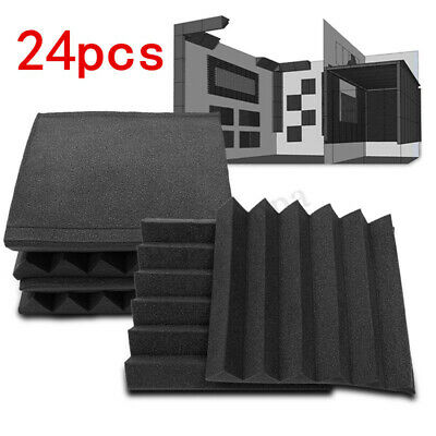 96 Pack Acoustic Foam Panel Wedge Studio Soundproofing 12'' X 12'' X 1'' Sound