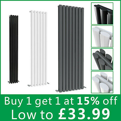 1Horizontal Vertical Designer Rads Oval Column Upright Central Heating Radiator