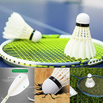 1/6/12Pcs Badminton Goose Feather Shuttlecocks Training Sport Game Tools Outdoor