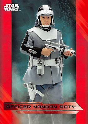 Star Wars Last Jedi Series 1 RED PARALLEL BASE Card #39 / OFFICER NANDAN ROTY