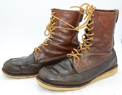 VTG Red Wing Irish Setter Sport Boot USA Mens Sz 12 Leather Hunting Work Boots