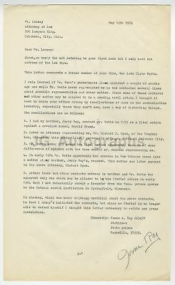 James Earl Ray - Martin Luther King, Jr. Assassin - 1976 Letter to His Lawyer