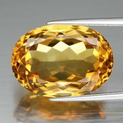 13.01ct 18x13mm VVS Oval Natural Yellow Citrine, Brazil