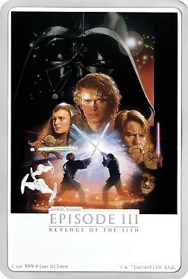 2018 STAR WARS Revenge of The Sith - 1 OZ. SILVER - 6th coin