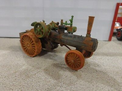 custom 1/64 CASE steam engine tractor - weathered barn find - fence row tractor