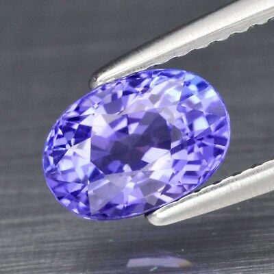 Super Clean! 1.42ct 7.7x5.4mm IF Oval Natural Violet Blue Tanzanite, Tanzania