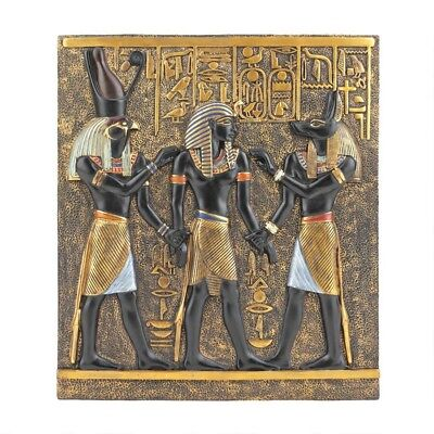 Egyptian Valley of the Kings Rameses I Anubis Horus Wall Sculpture Stele Plaque