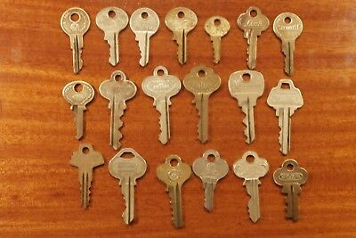 "Vintage BRASS KEY Lot of ""19 of My Best""  ILCO EAGLE MASTER ATLAS CORBIN WEISER"