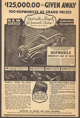 1935 Hupmobile Seminole Toilet Paper contest sheet