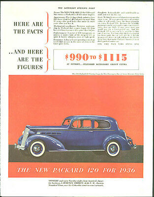 Here are the facts and here are the figures Packard 120 Touring Coupe ad 1936