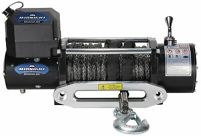VIPER Winch 8500lb, BLACK synthetic rope and hawse, handheld and wireless remote
