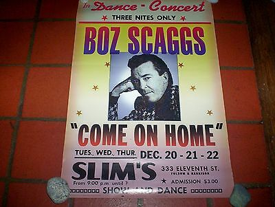 "BOZ SCAGGS ( COME ON HOME ) ORIG 1997 16"" x 24"" VIRGIN in store PROMO POSTER NM-"