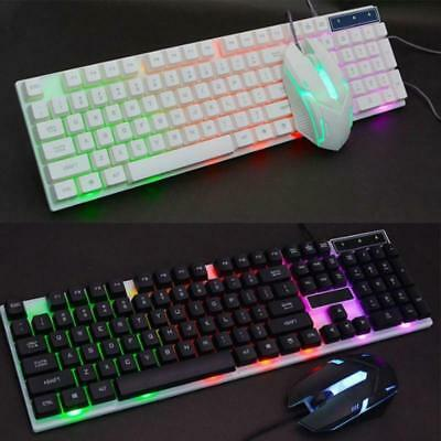 RGB USB Wired Gaming Keyboard And Mouse Set Colorful for PC Laptop Xbox One