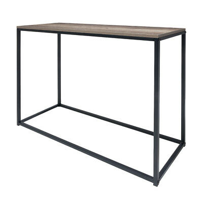 Industrial Hallway Table Console Entry Side Brown Accent Entrance Hall Storage