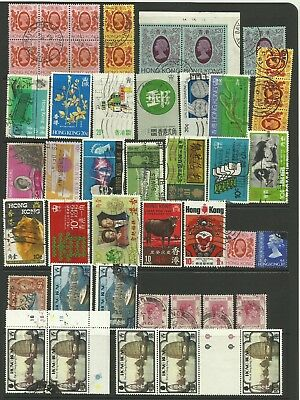 A Clear-out Selection of used Hong Kong Stamps.
