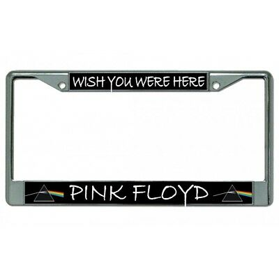 wish you were here pink floyd rock band logo license plate frame made in usa