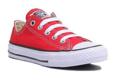 Converse Asox Core Kids Casual Canvas Trainer In Red Size UK 10 - 2