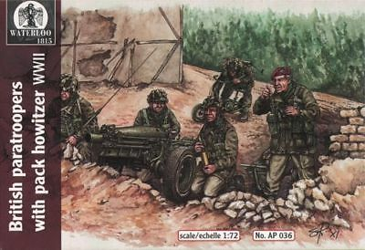 Waterloo 1815 1/72 WWII British Paratroopers with Pack Howitzer # AP036*