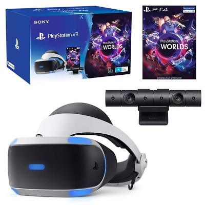 PlayStation (PS4) VR with Camera and VR Worlds Game (V2) Virtual Reality NEW