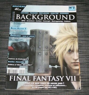 Magazine Revue Jeu Video Background N°2 Avril 2006 Rpg Final Fantasy Vii