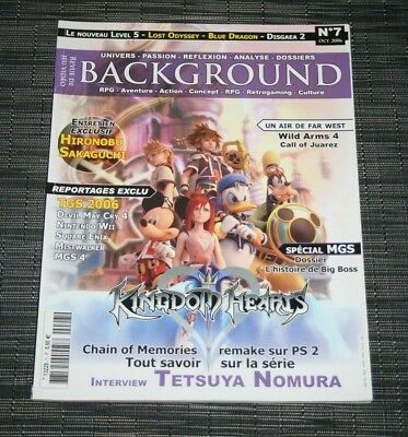 Magazine Revue Jeu Video Background N°7 Octobre 2006 Kingdom Hearts Metal Gear