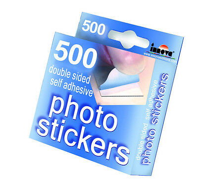 500 Double Sided Self Adhesive Photo Stickers Scrapbook Photograph Album Fixings