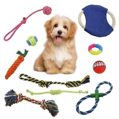 VOIMAKAS Puppy Dog Chew Toys, 10 Pack Rope Toys for Puppies Teething, Dental...