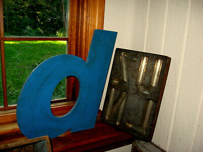 Very Large Wooden Sign Letter  Awesome Form, Blue Paint, Big Size   Aafa Nr