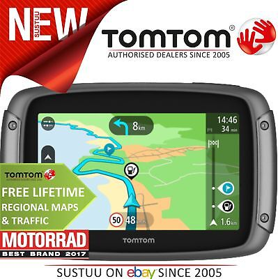 TomTom Rider 42│Motorcycle Bike GPS SatNav│2019 LIFETIME UK W.Europe Map+Traffic