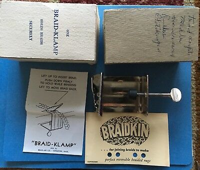 Vintage Braid-Klamp in Original Box! Please Check the Pictures