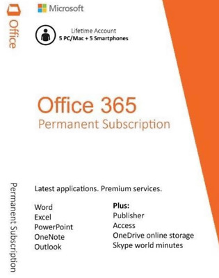 Microsoft Office 2016 Pro Plus Office 365 Account For 5 Devices 5 TB Onedrive
