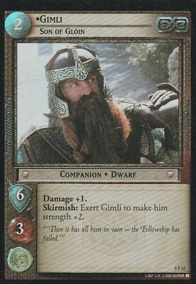 2002 Decipher==Lord Of The Rings==Tcg Promo Foil==Gimli: Son Of Gloin