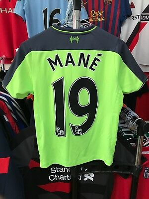 71e41176832 Boys Liverpool third football shirt size MB 134 Mane New Balance 2016-2017