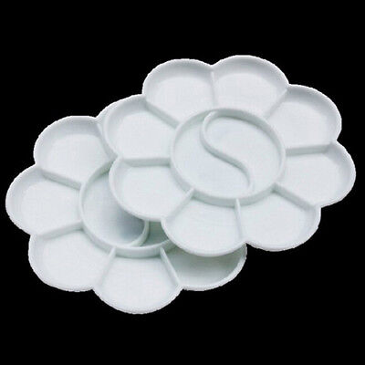 KQ_ 5Pcs 10-Well Flower Art Paint Tray Artist Watercolor Plastic Palette Supply