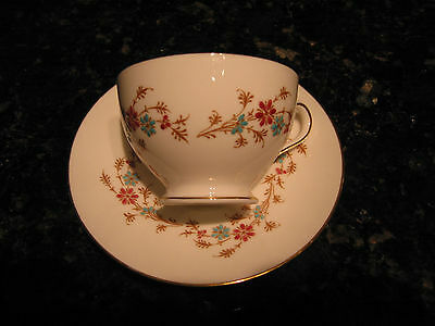 Minton Durham Bone China Footed Cup Saucer Sets England S651 **Choice