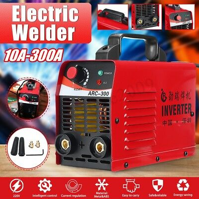 220V ARC-300 Electric IGBT Welder Inverter MMA/ZX7 Portable Welding Machine Red