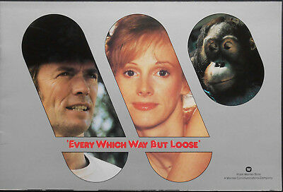 EVERY WHICH WAY BUT LOOSE pressbook English 1971 Clint EASTWOOD